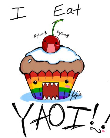Yaoi cupcake by RastaPickney-Juls. // I want this as a tattoo...or maybe just on a shirt