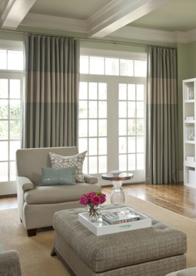 Draperies that look great with a transom window!