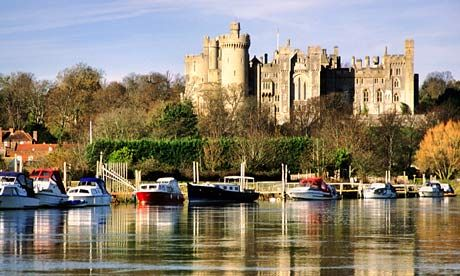 Arundel Castle, and Arun Valley. The boat ride on the river when the tide comes in, well just hang on fastest ride you will ever have up the river