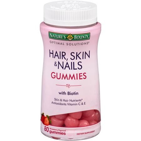 Vitamins to support healthy hair, nails, and skin, all in a yummy strawberry flavored gummy! #GotItFree