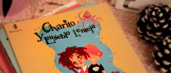 Cuento infantil Charito y Eusebio Lenteja de Pilar Lucea. Estas son las aventuras de Charito, una chica super moderna; y Eusebio, un buenazo aunque un poco tonto. http://www.ottoyanna.com/ottoyanna/cuento-infantil/903-cuento-infantil-charito-y-eusebio-lenteja-de-pilar-lucea.html #libros, #lectura, #cuentos, #leer, #books, #infantil, #ninos, #kids, #poesia.