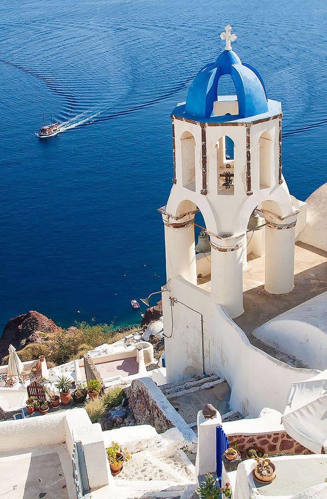 Santorini + the Blue Aegean Sea