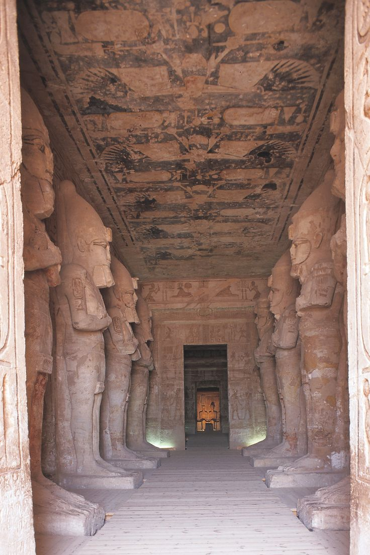 Interior Of The Temple Ramses II Abu Simbel Egypt Dynasty XIX Ca Design HistoryArt
