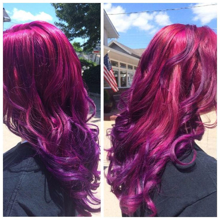 loved how it turned out joico color intensity pink magenta and indigo mixed color melt. Black Bedroom Furniture Sets. Home Design Ideas