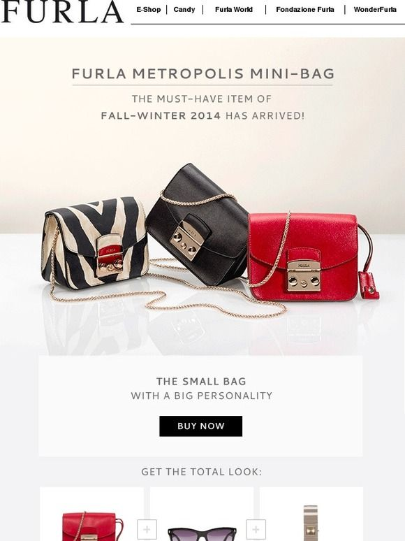 Furla Metropolis Mini-Bag: The MUST-HAVE item of Fall-Winter 2014 has arrived! - Furla