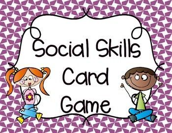 FREE. This Social Skills Freebie is a quick, minimal prep card game that addresses social skills and feelings.  Perfect for students working on their social skills!  Download at:  https://www.teacherspayteachers.com/Product/Social-Skills-Card-Game-1864928