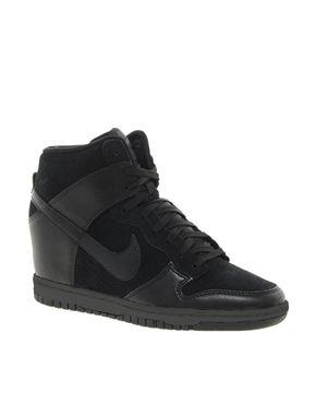 Nike+Dunk+Sky+High+Black+Wedge+Trainers