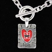 Nebraska Cornhuskers Team Color Love Necklace