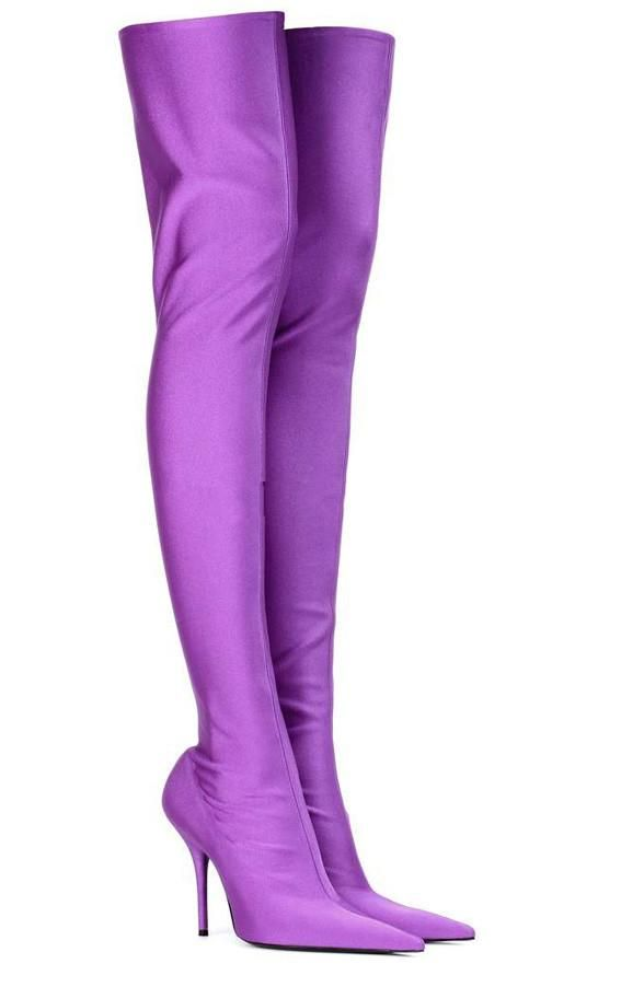 2f9e0d41fc13 Sexy Silk Elastic Pointed Stretch Over the knee High Boots in 2019 | Boots  | Knee high boots, High boots, Thigh high boots