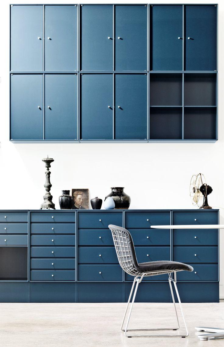 Montana Kitchen in blue. #montana #furniture #danish #design #interior #inspiration #storage #indretning #inredning #blue #kitchen