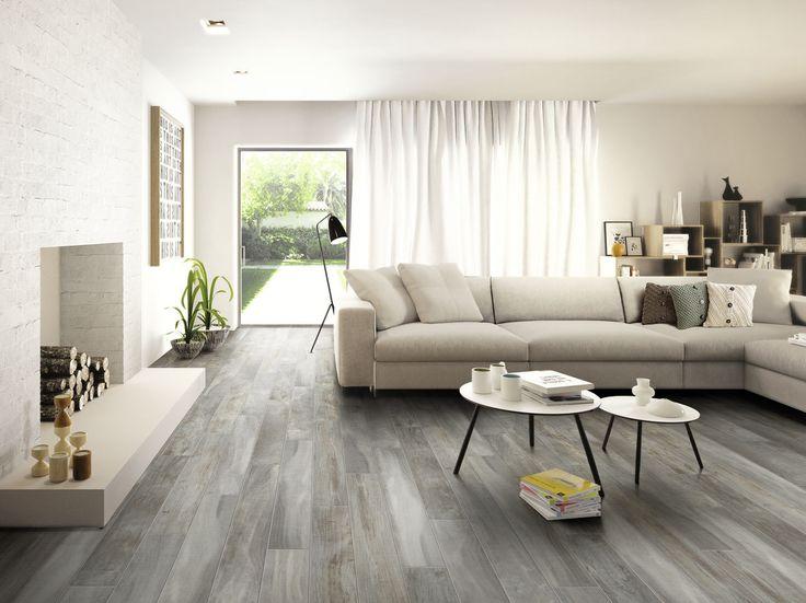 Salerno Porcelain Tile Trail Wood Series Living Room