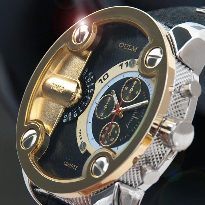 남자 가죽 시계 유니크 시계 아날로그 시계 듀얼타임택포 36,000카톡 친구 추가 : http://goto.kakao.com/@개성상인