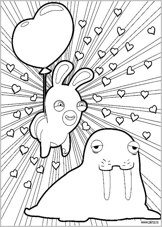 16 best coloriage lapin cr tin images on pinterest - Lapin cretin a imprimer ...