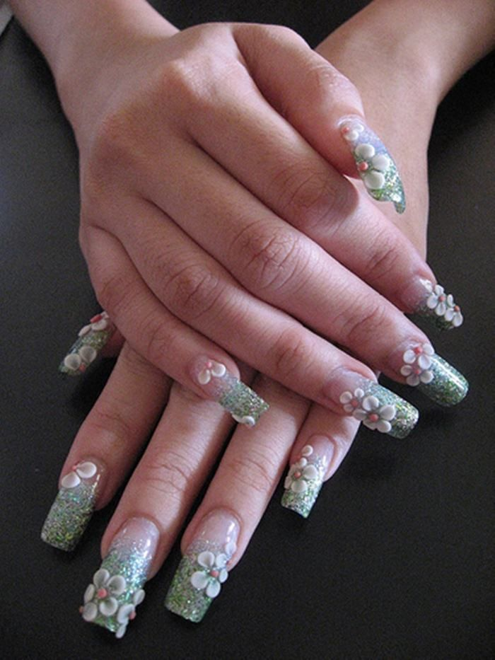 532 best nail me baby 3 images on pinterest nail designs flowers acrylic nails design too long for me but you have to admit its a work of art prinsesfo Image collections