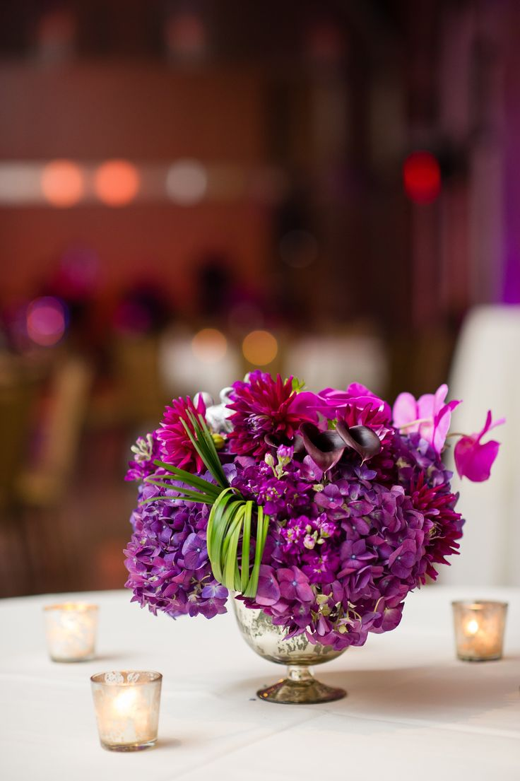 Best ideas about purple hydrangea centerpieces on