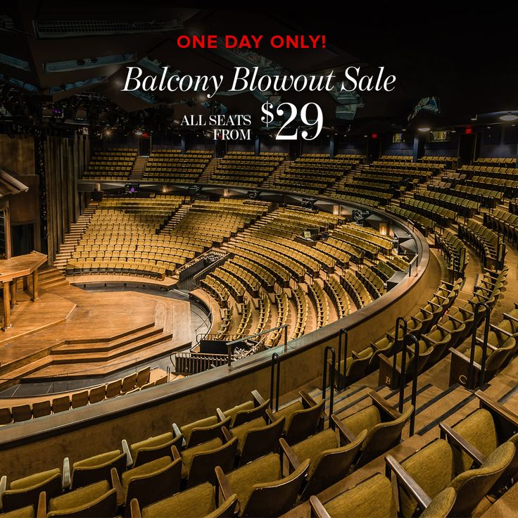 Our Balcony Blowout Sale launches July 20! For 24 hours only, ALL of our balcony seats for the rest of the season are only $29-39! Don't miss out on these incredible savings.