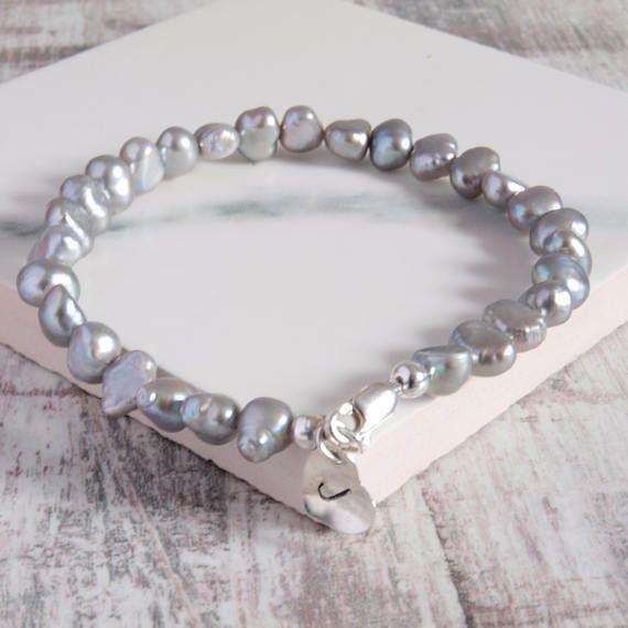 Silver Pearl Personalised Bracelet