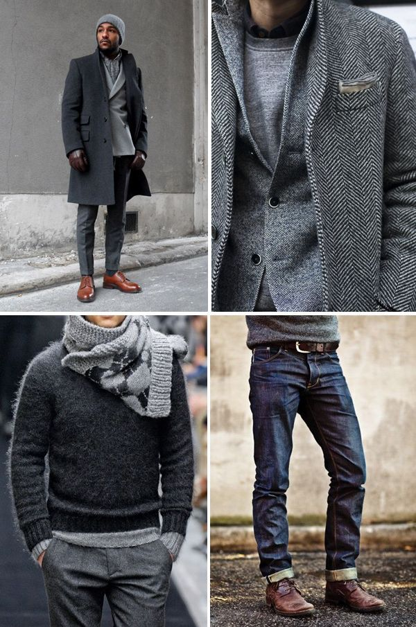 I Love the jacket. A simple classic jacket on any guy can make his look more mature!