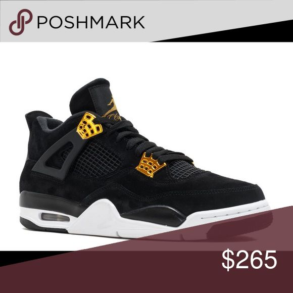 Jordan retro 4 royalty Deadstock never worn, black and gold. Jordan Shoes Sneakers
