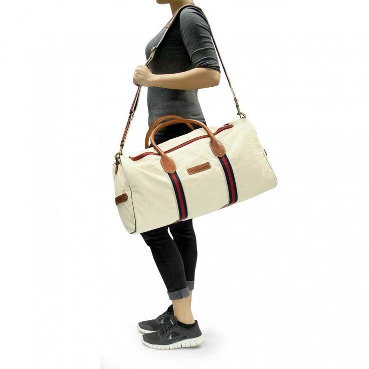 Gymbag für kleine Reisen oder große Sportvorhaben! :) #gymbag #canvas #eastport #Drakensberg #creme #maritime #Reisetasche #Tasche #stilvoll #Abenteuer #Segeln