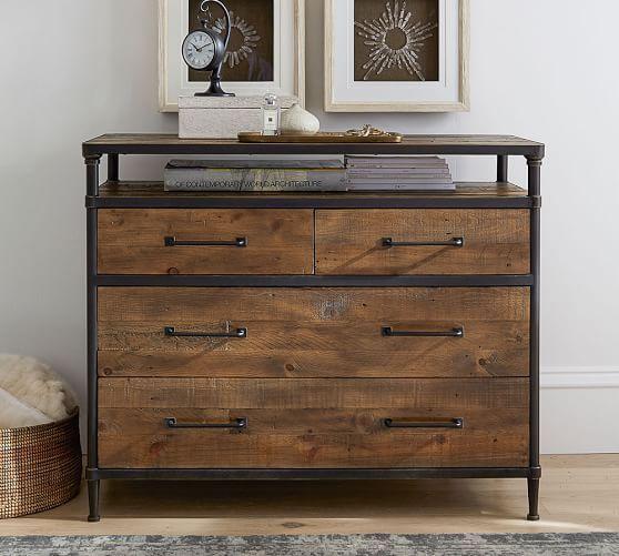 Juno Reclaimed Wood Dresser Bedroom Dresser Bed Side Table Also Available