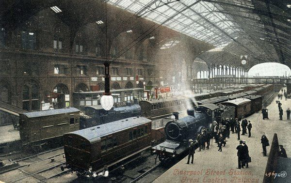 Liverpool Street Station in the heart of the City - about 1900 ish...