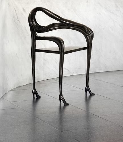 Black Label Leda chair-sculpture -Salvador Dali