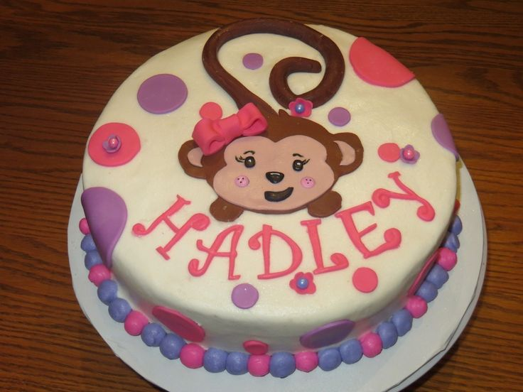 monkey birthday cakes for girls | girl monkey