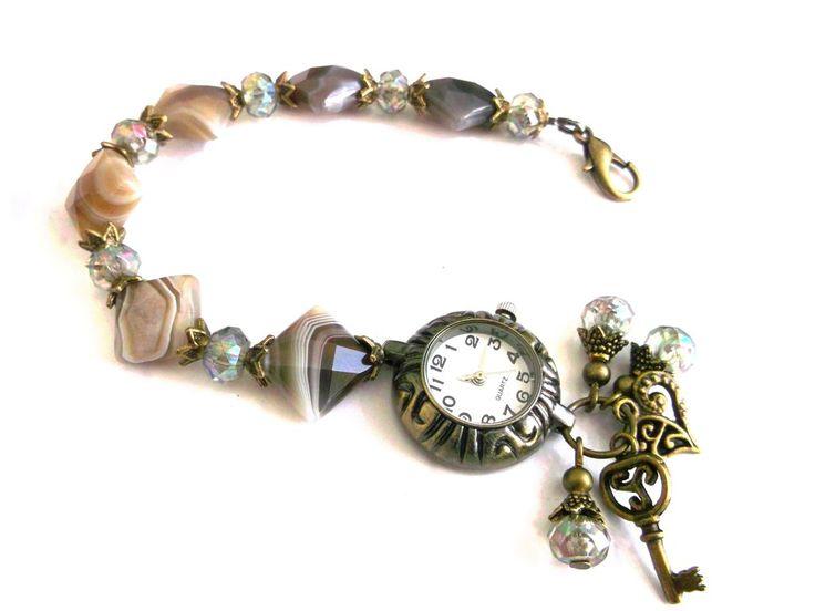 Bronze wristwatch - bracelet