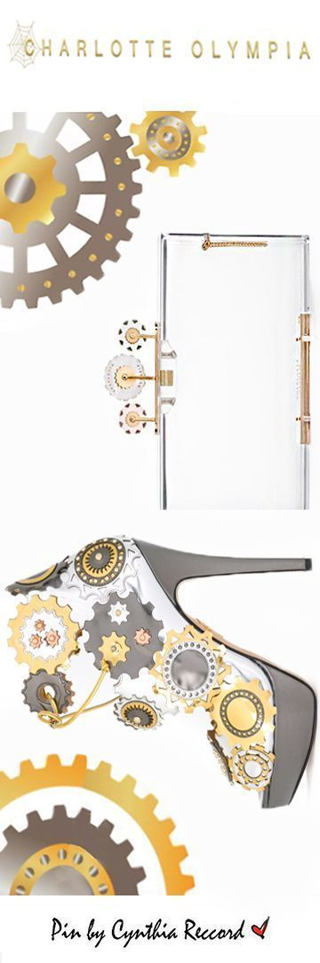 Charlotte Olympia   'Industrial' Clutch and 'Spring in Her Step' Platforms   cynthia reccord #charlotteolympiaheelszapatos #charlotteolympiaheelsplatform