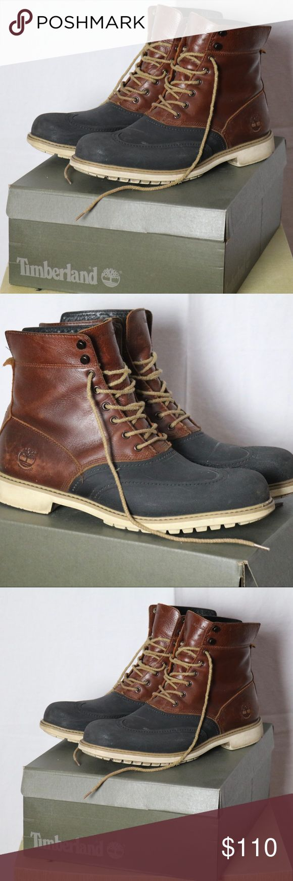 Timberland Duckboots Very lightly worn timberland duck boots.  Size 11.5  They are beautiful but too big for me. Timberland Shoes Boots