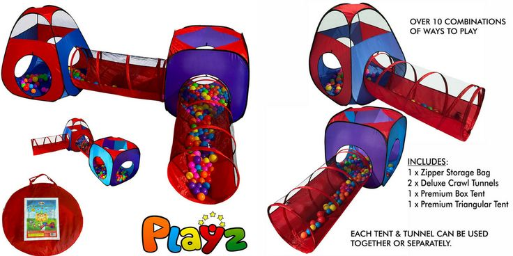 Playz 4pc Pop Up Children Play Tent w/ 2 Crawl Tunnel & 2 Tents, Only $17.00 Shipped! (Reg. $50.00) http://heresyoursavings.com/playz-4pc-pop-children-play-tent-w-2-crawl-tunnel-2-tents-17-00-shipped-reg-50-00/