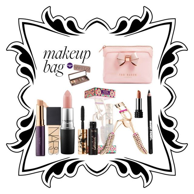 """My Vacation makeup bag"" by reneelag on Polyvore featuring beauty, tarte, MAC Cosmetics, Ted Baker, Urban Decay, Manic Panic NYC and NARS Cosmetics"