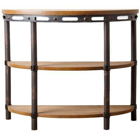 Devon & Claire Eastwood Industrial Sofa Table, Beige
