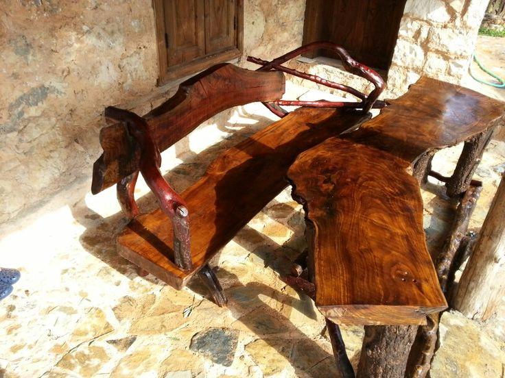 Rustik bahçe mobilya