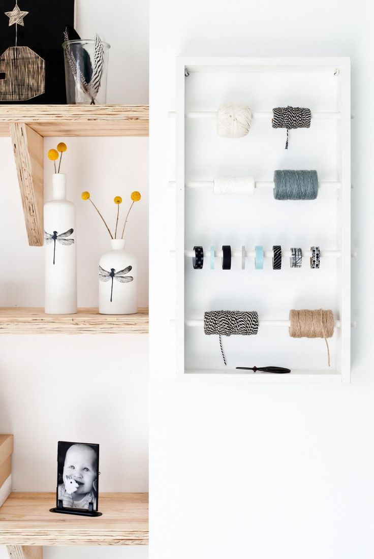 DIY storage box for all your craft materials like ribbons, rope and tape | Styling Kim van Rossenberg | vtwonen doe-het-zelf