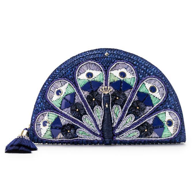 ケイト・スペードから「孔雀」モチーフのバッグや小物、モロッコのガーデンをイメージした深いブルー色 | ファッションプレス
