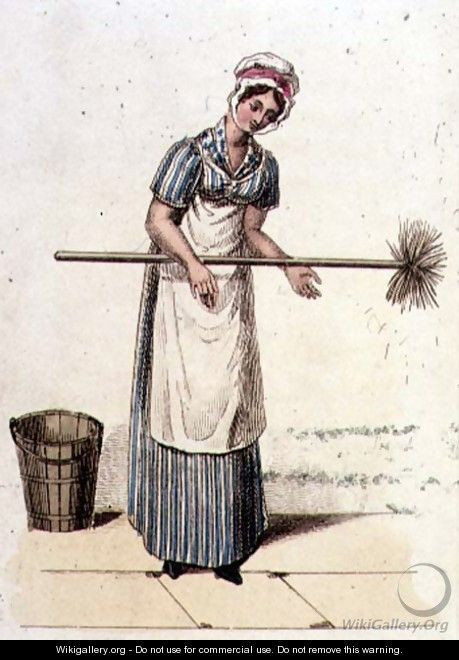 The Housemaid by William Henry Pyne, 1827