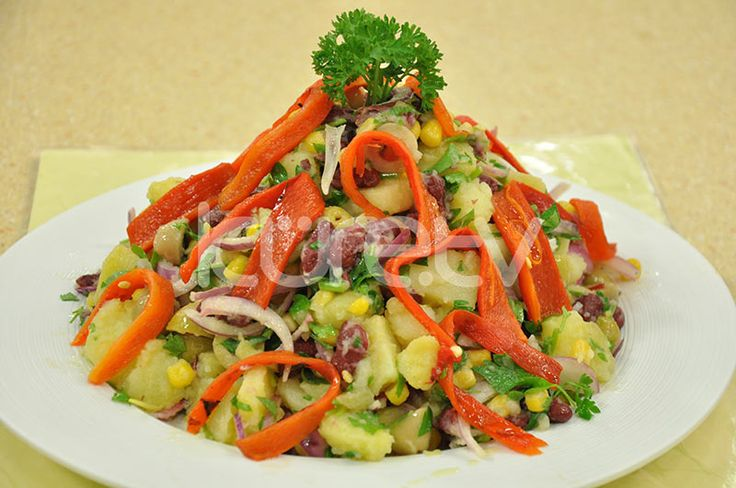 Fasulyeli Patates Salata #PatatesSalatası #Salata  http://www.kure.tv/foto-galeri/fasulyeli-patates-salata/1