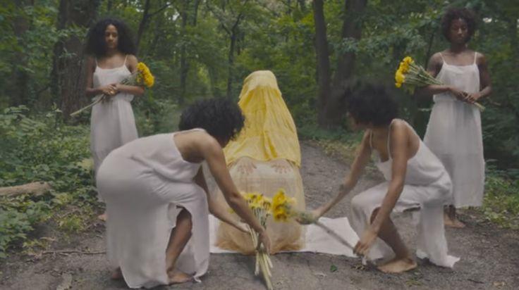 "Oshun in Princess Nokia's video for ""Brujas"""