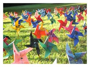 Marshall School Celebrates Pinwheels for Peace - International Day of Peace