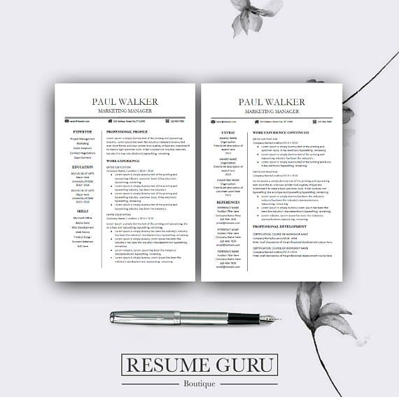 Creative Resume Template CV Template for MS Word