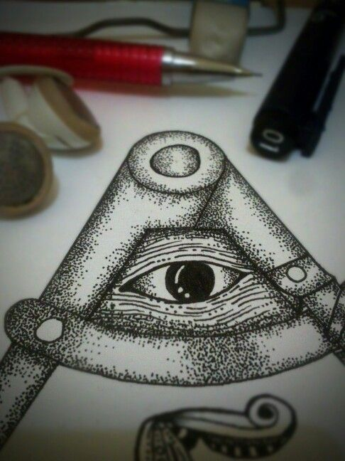 #Illustrations #drawing #ink #eye #pointillism