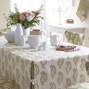 Make A Tailored Tablecloth Free Sewing Pattern