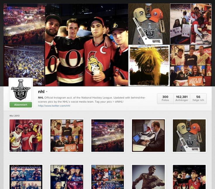 Wir starten eine neue Reihe und schauen uns Instagram-Profile an. Teil 1: NHL  http://blog.anttrail.de/2013/05/instagram-use-case-nhl/