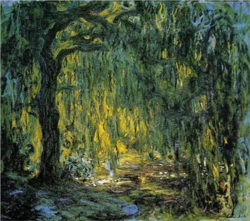 One of my favorite paintings ever. Weeping Willow - Claude Monet