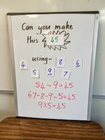 I love the thinking involved in this simple math challenge.  I call it 'Can You Make It?'      Here is what the game might look like. And ye...
