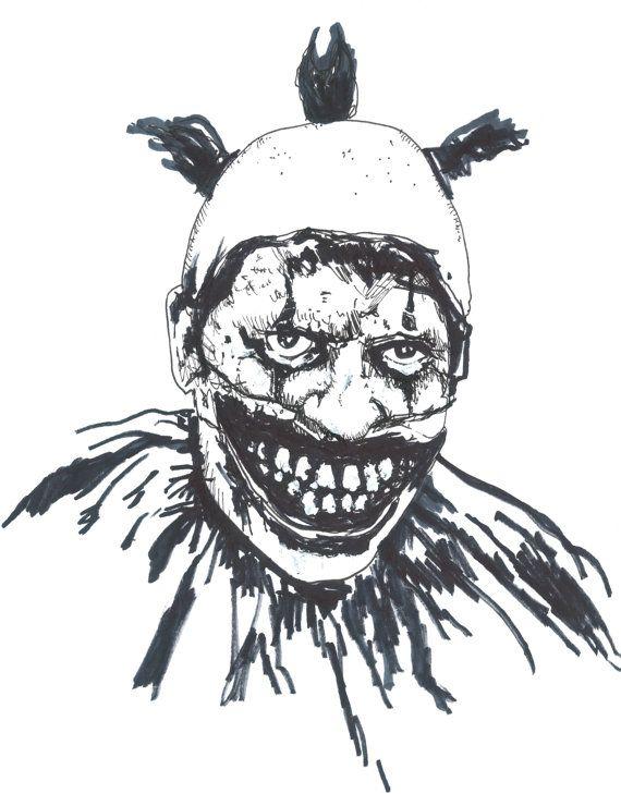Twisty The Clown Poster By Cityartcards On Etsy Horror Movie Art Horror Cartoon American Horror Story Art