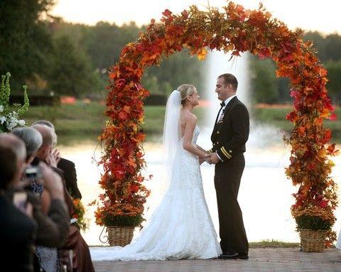 46 Outdoor Fall Wedding Arches | HappyWedd.com