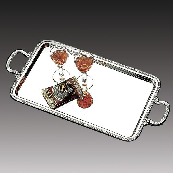 Wolff Rectangular Stainless Steel Serving Tray with Handles